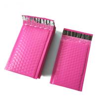 poly geschenk taschen großhandel-Blasenverpackungsbeutel 4 x 7 Zoll / 120 * 180 mm Poly-Blasengeschenkversender Rosa, selbstdichtende, gepolsterte Umschläge / Versandtaschen