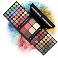 Wholesale shadow blush lipstick for sale - Group buy Kit Cosmetic colors eye shadow set Shimmer Matte Eye Shadow Pallete Lipstick blush Multifunctional set cosmetics drop ship