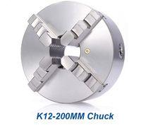 ingrosso torni cnc-8 pollice tornio Chuck mandrino di perforazione K12-200mm 4 mandibola autocentrante tornio in acciaio temprato per CNC router di legno