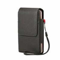 сумка для s2 оптовых-Роскошный кожаный чехол для ремня с двумя карманами Чехол-сумка для UMIDIGI S2 / S2 Pro / S2 Lite / S2 Helio P20 / C NOTE 2 LEAGOO M8 M8 Pro