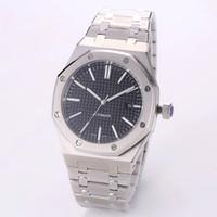 luxury watches venda por atacado-Relógio de luxo 42mm completa pulseira de aço inoxidável relógio de ouro automático luminosa qualidade superior relógio de pulso de safira orologio di lusso 5ATM à prova d 'água