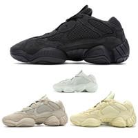 c5c119961 New Salt Kanye West 500 Men Running Shoes With Box 2019 Designer Shoes  Super Moon Yellow Blush Desert Rat 500 Sport Sneakers