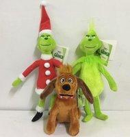 sıcak satış oyuncakları toptan satış-Sıcak satış Komik bebekler 18 cm 32 cm 40 cm Grinch oyuncaklar Nasıl Grinch Noel Çaldı Noel Peluş Doldurulmuş Bebek Oyuncak Çoc ...