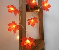 ingrosso le luci delle fate del giardino-LED Maple Leaves luce stringa Fairy Ghirlanda String Lights Battery Operated Helloween Garden Home Decorazione albero di Natale Illuminazione