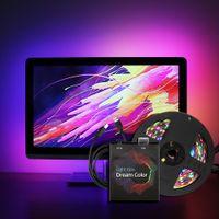 rgb liderliğindeki ws2812b toptan satış-Ambilight USB LED Şerit işık 5050 RGB Rüya renk ws2812b şerit TV Masaüstü PC Ekran Arka aydınlatma için 1 M 2 M 3 M 4 M 5 M