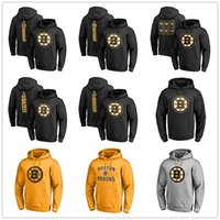 hoodie david toptan satış-Boston Bruins Hoodie Patrice Bergeron David David Destekler David Pastrnak Brad Marchand Hokeyi Erkek Tasarımcı Hoodies Baskılı Logolar 2019 Playoff