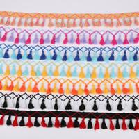 fransen quasten trimmen großhandel-Pompon Quaste 45mm Pompoms Trim Kugel Fringe Band Kleider Sewing Spitze-Gewebe-Cord DIY Handgemachter materieller 10yard / set