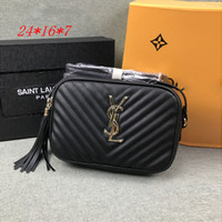 siyah püsküllü omuz çantası toptan satış-2020 Moda Kadın Deri Çanta Cüzdan Tasarımcı Püskül Crossbody Çanta Çanta Bayanlar Siyah Messenger Çanta Klasik Marka Casual Omuz Çantaları