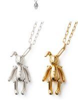 silber halskette tragen charme großhandel-2019 AMBUSH BUNNY CHARM HALSKETTENKANINCHEN GOLDEN UND SILBER