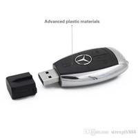 автомобильные usb-накопители оптовых-Дизайн Реальная Емкость 100% Высокое качество Pen Drive Mercedes-Benz ключи от машины 32 ГБ ~ 64 ГБ U диск USB 2.0