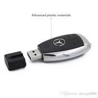 llaves auto benz al por mayor-Diseño Capacidad real 100% Alta calidad Pen Drive Mercedes-Benz llaves de auto 32GB ~ 64gb U disco USB 2.0