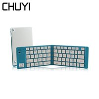 складная мини-клавиатура оптовых-CHUYI Bluetooth Foldable Mini Keyboard Portable Folding Slim Wireless Keypad For Smartphone Windows/Android/IOS Ipad Tablet