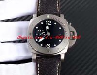 Wholesale best titanium bracelets for sale - Best Edition Watch ZF mm Crack Leather Bracelet Titanium CAL Movement Automatic Luxury Mens Watch