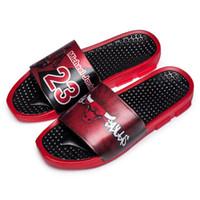 sandales sport étoiles achat en gros de-Sports star pantoufles d'impression de haute qualité marque hommes d'été en caoutchouc sandales plage Slide mode érailles pantoufles chaussures d'intérieur 222