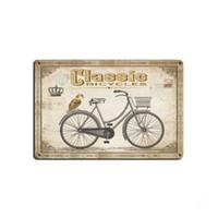 bisiklet resimleri toptan satış-4 stilleri Bisiklet Retro Plaka Metal Motor Vintage Zanaat Kalay Işareti Retro Metal Boyama Posteri Bar Pub Duvar Sanatı Dekor Sanat Resimleri 20 * 30 cm