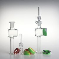 clips großhandel-Neue 7,5 Zoll Glas Nektar Collector mit 10mm 14mm Quarzspitzen Keck Clip 10ML Silikon Container Reclaimer Nector Collector Kit für das Rauchen