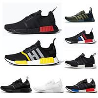кроссовки оптовых-Adidas nmd R1 Дизайнерская обувь R1 тройная Япония белая черная мужская кроссовки Og Classic Beige Oreo camo mens trainers женские спортивные кроссовки US 5.5-11