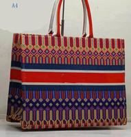 çoklu el çantaları toptan satış-Dior Klasik Renkli çiçekler çanta çok renkli ünlü çanta moda alışveriş çantaları büyük kapasiteli bayanlar çanta çanta