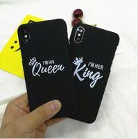 silikonkrone iphone fall großhandel-FÖRDERUNG Luxus-Silikon-Telefon-Abdeckungs-Mädchen-Art- und Weisekönigin-König Crown Soft Case für iphone