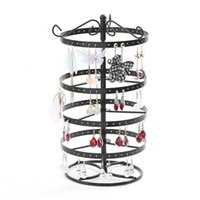Wholesale metal necklace stands displays resale online - Multifunctional Metal Necklace Chain Bracelet Rotation Holder Detachable Earring Jewelry Display Stand Rack Hanger new
