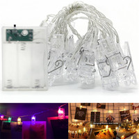 batería de luz led clip al por mayor-Photo Clip Light String Led Clip Luces de hadas Batería LED Clips Luces 3M / 6M Blanco cálido / RGB Fiesta en casa interior Festival Decoración