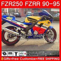 Wholesale repsol silver for sale - Kit For YAMAHA FZRR FZR R R FZR250 Repsol blue hot HM FZR FZR250R Fairing