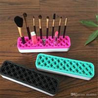 Wholesale korean makeup brushes resale online - Silicone Makeup Brush Organizer Storage Box Lipstick Toothbrush Pencil Cosmetic Brush Holder Stand Multifunctional Make Up Tool ayq