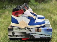 Wholesale steel toe sneakers resale online - Cheap Newest Union x High OG NRG LA Los Angeles Blue Toe Varsity Red Storm S Basketball Shoes Man Sneakers