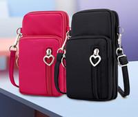 handy wristlet brieftasche groihandel-Kleine Wristlet-Crossbody-Tasche Handy-Portemonnaie-Reise-Geldbeutel-Sportarmband-Tasche