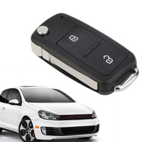 Wholesale golf key fob resale online - 1PC Button Remote Key FOB Shell Case Fits forcar Transporter T5 Polo GOLF