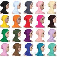 Wholesale skull cap style resale online - Women Caps Ninja Head Cover Bonnet Hat Underscarf Muslim New Style Scarf Amira Arab Islamic Beanies Skullies Neck Cover Fashion