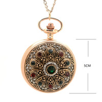 старинные часы оптовых-(1147) золотой королевский дворец богемной любви сердце красный карманные часы свитер винтажные турецкие карманные часы кулон ожерелье