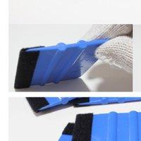 auto-wandpapiere großhandel-Autovinylfolienwickelwerkzeuge 3m Rakel mit Filz weichen Wandpapier Schaber mobile Displayschutzfolie installieren Rakel Werkzeuge Schaber