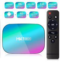 Wholesale best android smart tv box resale online - HK1 BOX G G Dual Wifi M Lan K HK1 Amlogic S905X3 Best Android smart TV Box