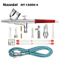 Wholesale tattoo brushes resale online - Nasedal Dual action Airbrush Paint Spray Gun Makeup Air Brush Paint Set Face Tattoo Art DIY Tool mm mm mm cc