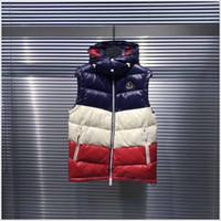 yaka yeleği toptan satış-Moda Erkekler Kadınlar kış Sıcak Unisex Aşağı Yelek Ceketler Bayan Casual Aşağı Yelek Coat Erkek Yelek