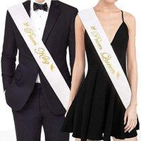 ingrosso le fasce della regina-Prom Re e Prom Queen Satin Sash Kit Accessori per la cerimonia di laurea