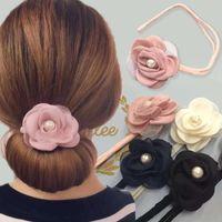 Wholesale hair donut twist for sale - Group buy Fashion Flower Styling New Magic Hair Donut Bun Maker Women Headband Comfort Multi Function Diy Twist Hair Style Tool