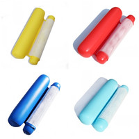 şişirilmiş şişler kullanılmış toptan satış-Şişme Yüzen Satır Katlanabilir Su Güverte Sandalye Kemer Net Yetişkin Çocuk Çift Kullanımlı Arkalığı Kanepe Mavi Turuncu 15gc C1