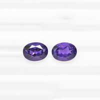 Wholesale amethyst oval stone for sale - Group buy 10pcs Dark Purple x12 x20mm Oval Brilliant Facet Cut Authentic Natural Amethyst Crystal High Quality Gem Stones For Jewelry