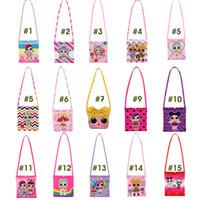 Wholesale kids cartoon single resale online - New LOL Cartoon Kids Bag Girls Single Shoulder Bag Skew Button Bag designer luxury handbags purses for girl gift WD951110