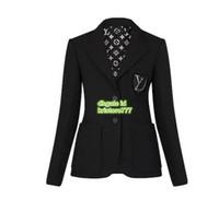 moda blazer menina venda por atacado-19 Mulheres Moda Designer De Luxo BLAZER JAQUETA COM PATCH BORDADO o Alto Final Personalizado Meninas Magro Blazer Feminino Casual Runway Berif Coat