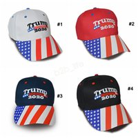 Wholesale black snapbacks stars for sale - Group buy Donald Trump Baseball Cap Make America Great Again hat Star Stripe USA Flag print sports outdoor cap LJJA2954