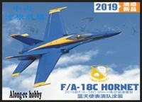 rc flugzeug servo großhandel-Freewing F18 F / A-18C Hornet Blaue Engel 90mm EDF Jet PNP oder Bausatz + Servo Versenkbares Flugzeug F-18 C / RC MODELL HOBBY