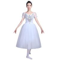 ingrosso abiti di giacca di balletto-Professional Swan Lake Ballet Costume Ballerina Dress Donna Balletto Dress Girls Basic Gonna Dancewear