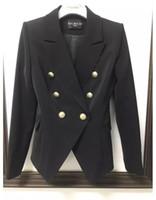 роскошная дизайнерская одежда оптовых-Balmain Женская одежда блейзеры высокое качество женские костюмы пальто роскошные женские дизайнерская одежда куртка размер S-XL
