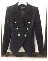 Wholesale double breasted womens jacket for sale - Group buy Balmain Women Clothes Blazers High Quality Womens Suits Coat Luxury Womens Designer Clothing Jacket Size S XL