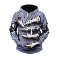 finger hoodies großhandel-Männer Frauen Naked Eye 3D Jugend Hoodie Horror Fingerprint Hoodies Sweatshirt neuen Frühling und Herbst