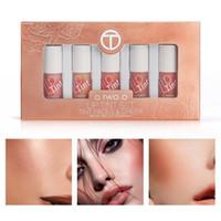 Wholesale pink lip tint for sale - O TWO O Lip Tint Set Moisturizing Lip Gloss Long Lasting Liquid Blusher Makeup Matte Lipstick Liquid Lips Kit Cosmetics