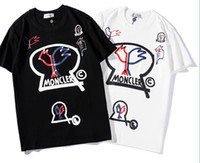 ingrosso nuove t-shirt stampate-New fashion Uomo donna T shirt stampato Top Hip Hop stampato manica corta Tees 91